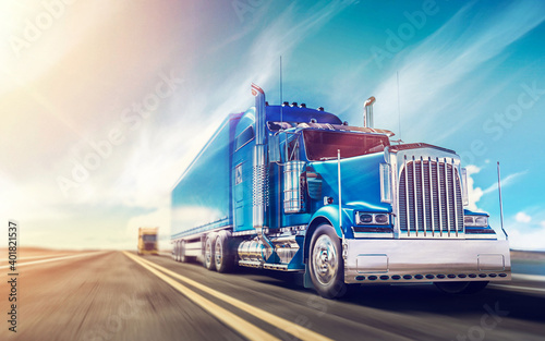 canvas print motiv - michael : truck on highway