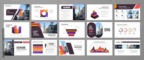 Fototapeta Business presentation slides templates obraz