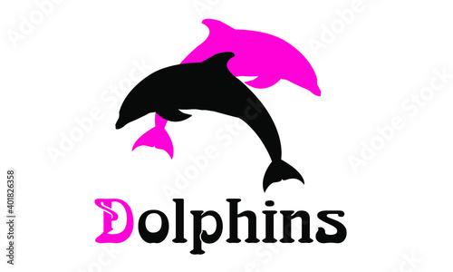 Fotografija Logo of the black sea bottlenose Dolphin