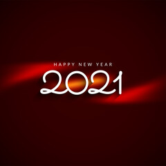 Simple stylish Happy new year 2021 modern background