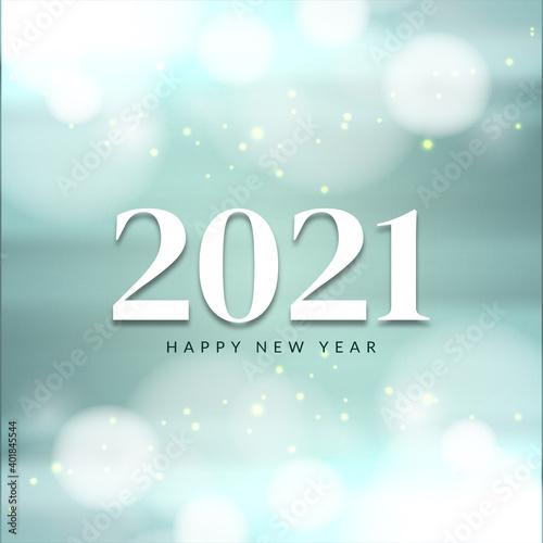 Obraz Soft glossy Happy new year 2021 bright background - fototapety do salonu