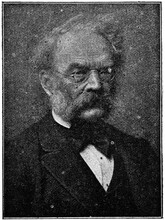 Portrait Of Ernst Werner Von Siemens - A German Electrical Engineer, Inventor And Industrialist. Illustration Of The 19th Century. Germany. White Background.