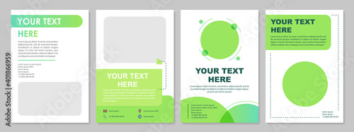 Fotografia, Obraz Minimalistic green brochure template