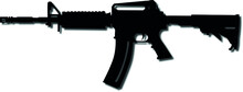 USA United States Army, United States Armed Forces And United States Marine Corps - Police Fully Automatic Machine Colt M4 Carbine Caliber 22LR   Realistic Silhouette, Good