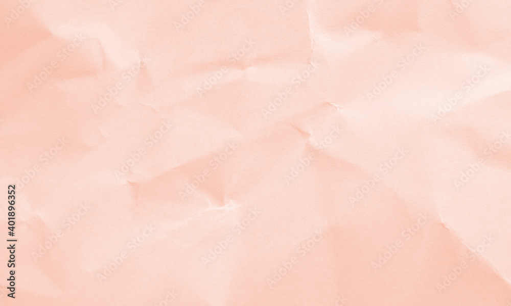 Fototapeta soft pink colored crumpled paper texture background for design, decorative.