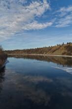 North Saskatchewan River Partially Frozen