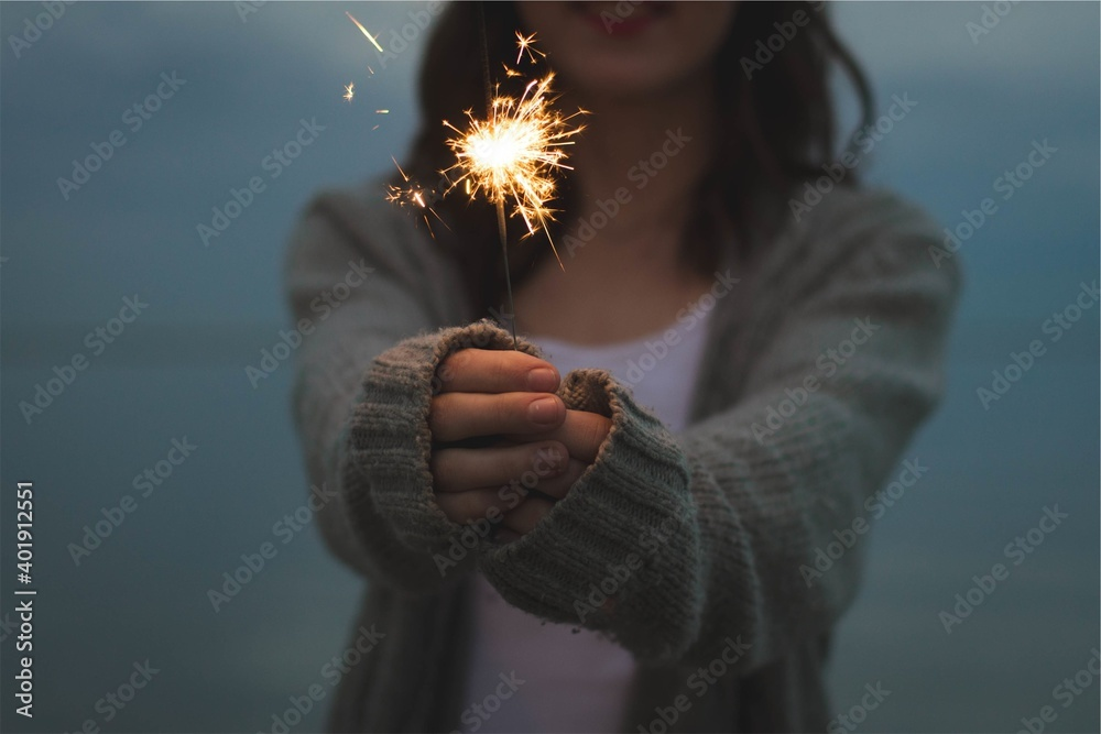 Fototapeta Fireworks new year holiday