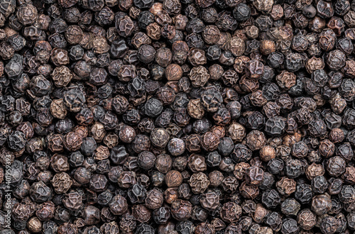 Fotografia Seamless endless pattern of black pepper corn
