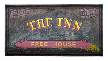 Rustic British Pub And Inn Sign
