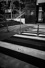 Black And White Street Crossing