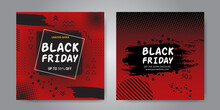 Colorful Painted Banner For Black Friday