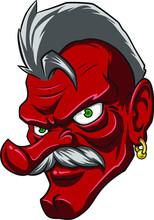 Punk Tengu Mascot Illustration Character