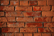 Texture Of Old Brick Wall From Red Bricks