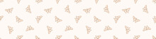 Seamless Background Butterfly Insect Gender Neutral Baby Border Pattern. Simple Whimsical Minimal Earthy 2 Tone Color. Kids Nursery Wildlife Rhopalocera Edging Fashion Trim.