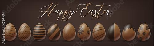 Fotografering Easter holiday banner or newsletter header