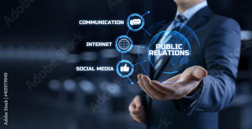 Fotografie, Tablou PR Public relations concept