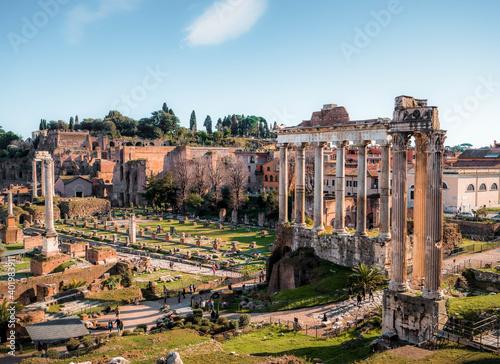Obraz na plátně ancient roman forum city
