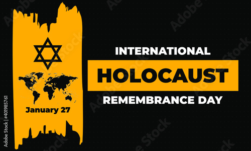 Fototapeta International Holocaust Remembrance Day is an international memorial day on 27 January commemorating the tragedy of the Holocaust that occurred during the Second World War