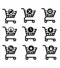 Buy Now Button. Shopping Cart Icon Template.
