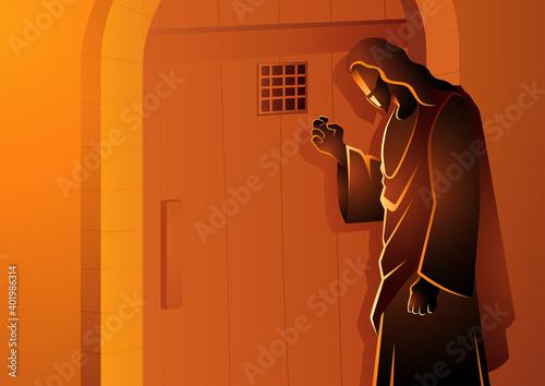 Jesus Knocking on the Door Fototapete