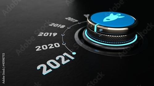 Control Knob 2021 Fototapete