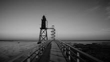 Leuchtturm Dorum (Deutschland) Lighthous In Schwarz-weiß