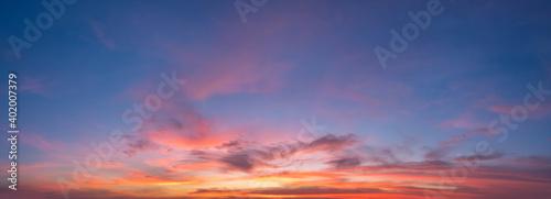 Obraz Sunset sky for background or sunrise sky and cloud at morning. - fototapety do salonu