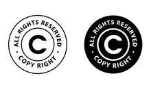 Copyright Abstract, 'all Right Reserved' Vector Icon