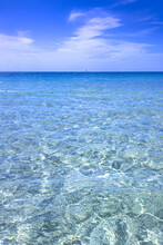 Sea And Sky: Crystalline Water In Apulia, Italy.