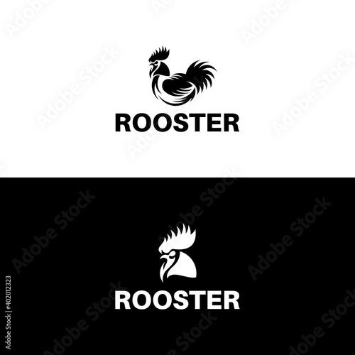 Rooster Logo Designs Template, Chicken Head Logo Designs. Fototapete