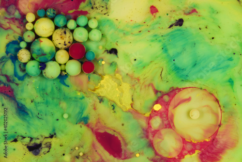Fototapety, obrazy: abstract background with bubbles colorful