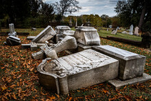 Damaged Graves At Oakland Cemetery In Shreveport Louisiana