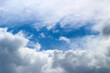 Blue sky with white cloud panorama view on sunny day