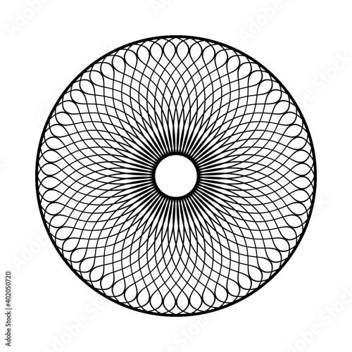 Fototapeta Abstract decorative geometric circle pattern.
