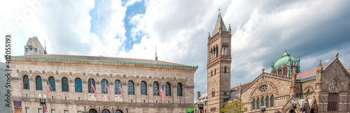 Old South Church and Boston Public Library Massachusetts USA