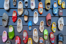 Colorful Dutch Wooden Shoes