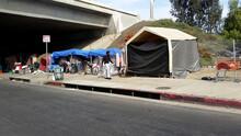 Homeless Encampment In Pacoima, California