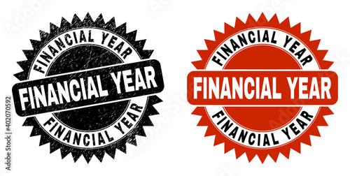 Fotografie, Obraz Black rosette FINANCIAL YEAR watermark