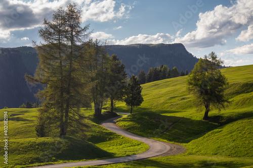 Fotografía A landscape of road on a hillside under a fine weather