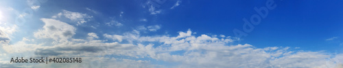 Obraz Panorama sky with cloud on a sunny day. Beautiful cirrus cloud. - fototapety do salonu