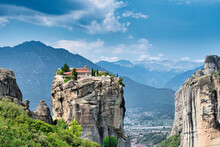 The Meteora Is A Rock Formation In Central Greece Hosting One Of The Largest And Most Precipitously Built Complexes Of Eastern Orthodox Monasteries.