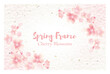 和紙と桜と和柄のベクターイラスト素材