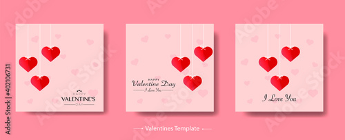 Fototapeta Happy valentines day background Bundle obraz na płótnie