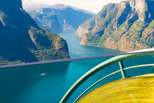 Fjord View From Stegastein Viewpoint Norway