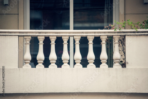 Fotografering Balcony with banisters