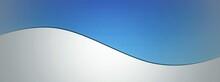 白背景に重なる抽象的な青い図形