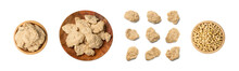 Raw Dehydrated Soy Meat Or Soya Chunks Isolated
