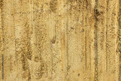 Fototapeta Sandy surface after excavator bucket run obraz