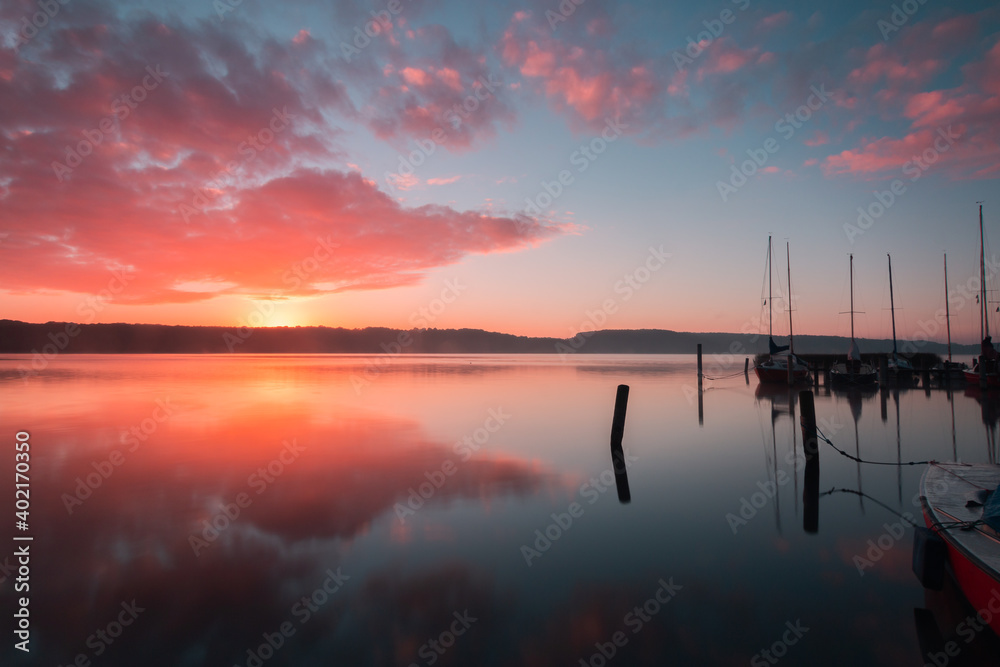 Fototapeta Ratzeburger See im Sonnenuntergang