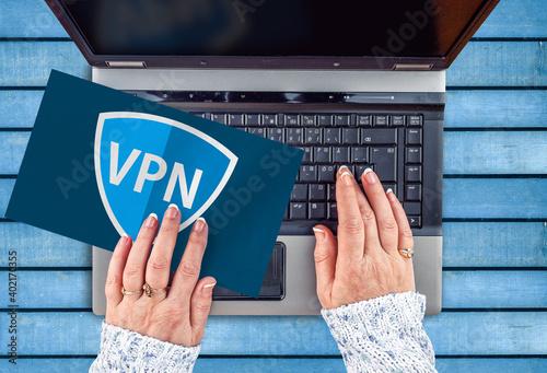 VPN , virtual private network Fototapet